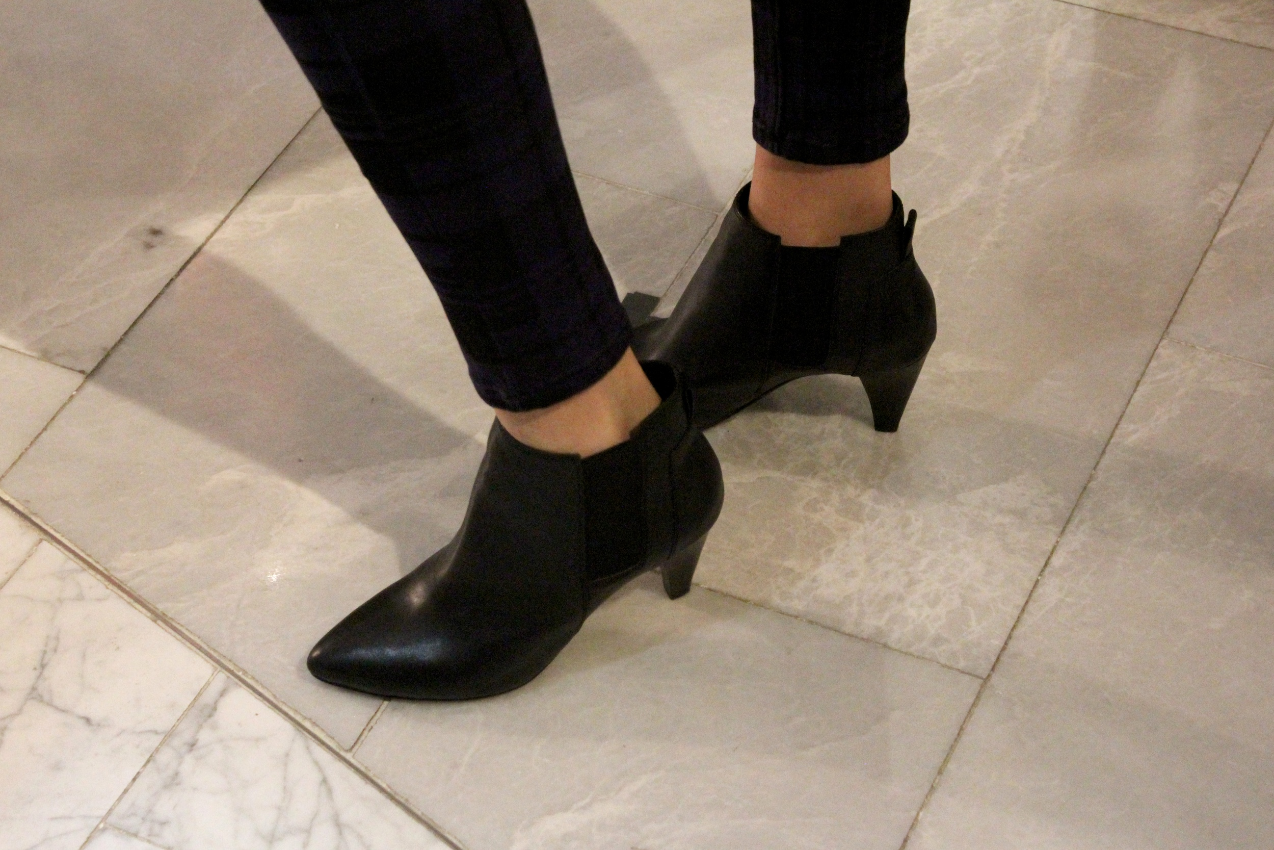 Shoes:  Leather ankle boots
