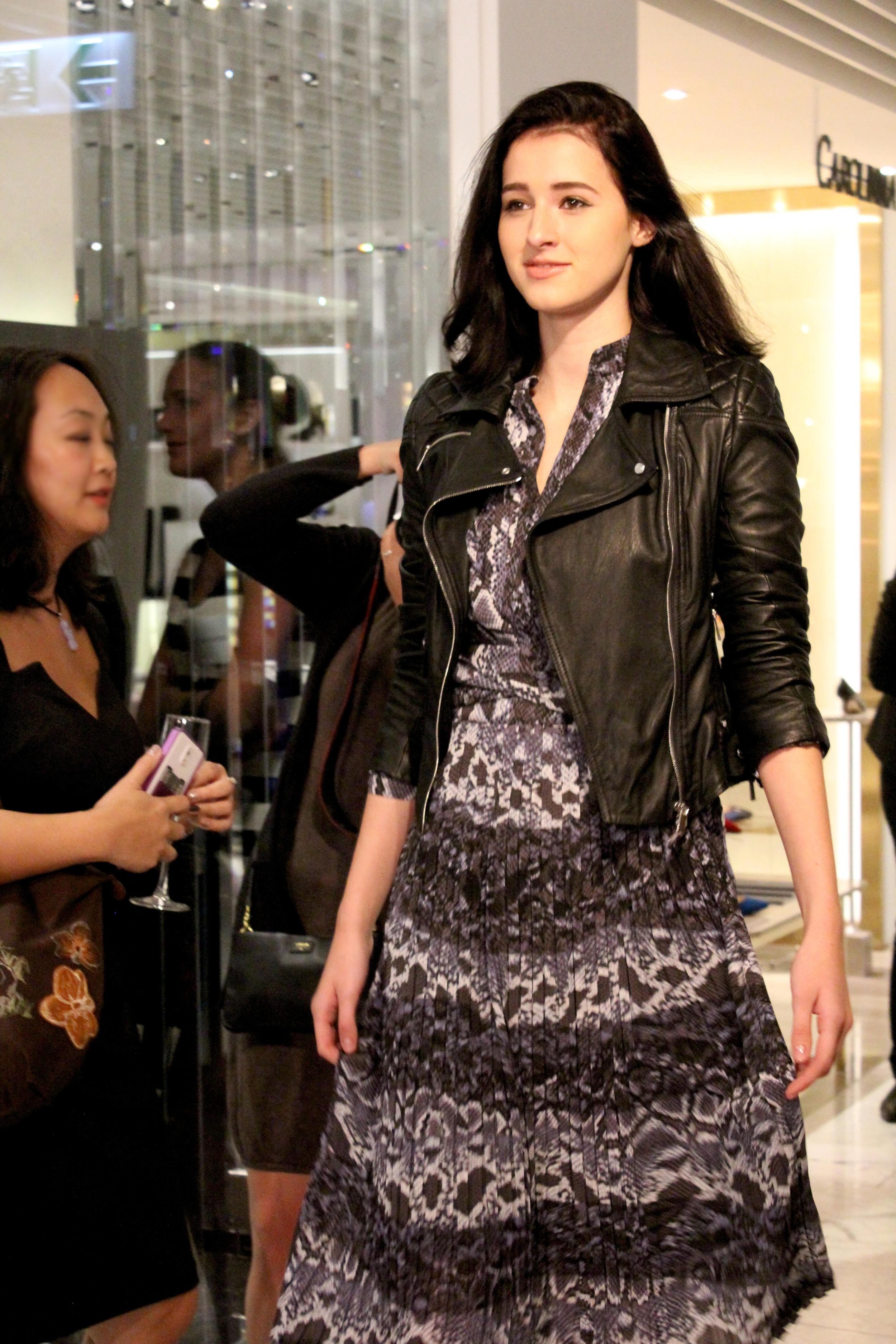 Jacket:  Signature leather jacket