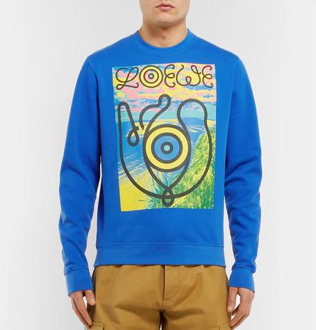 EYE:LOEWE:NATURE Printed Fleece-Back Cotton-Jersey Sweatshirt.jpg