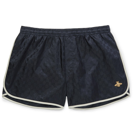 GUCCI Short-Length Embroidered Jacquard Swim Shorts.jpg