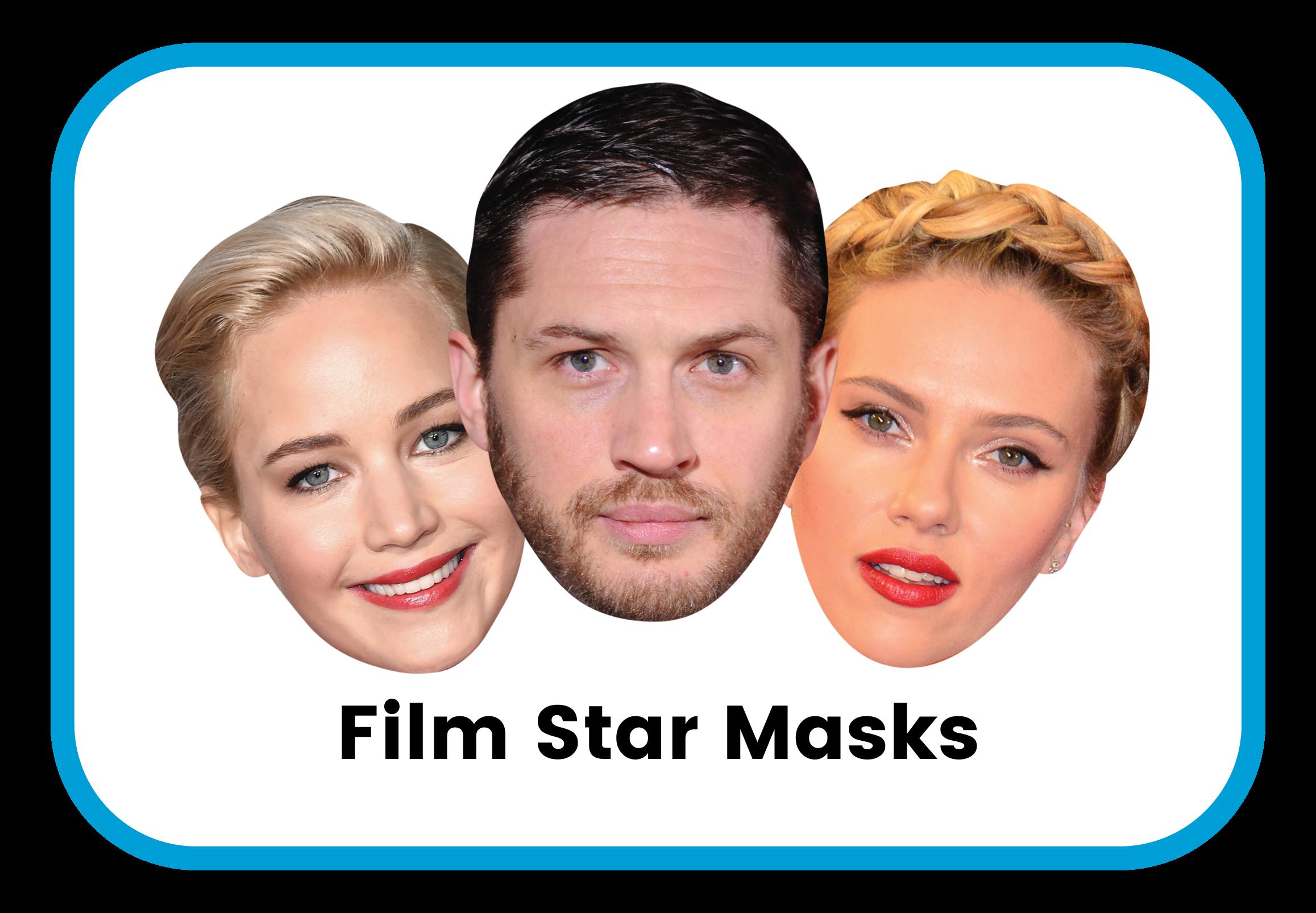 Film Star cardboard masks