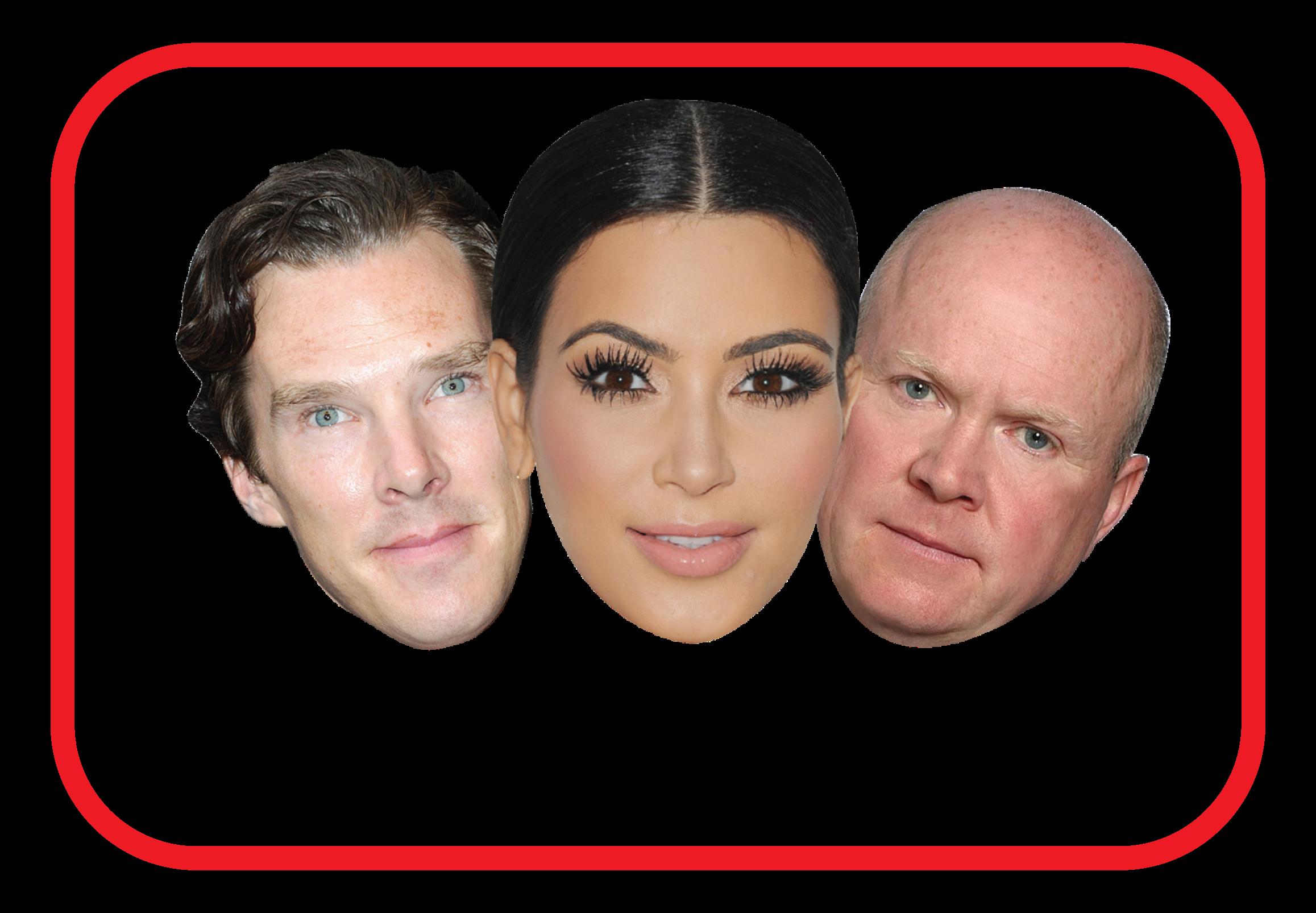 TV Star cardboard masks