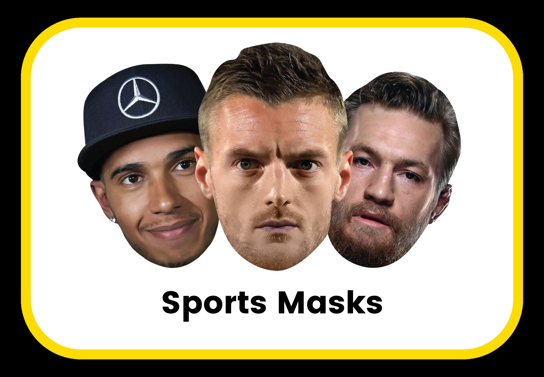 Sports cardboard masks