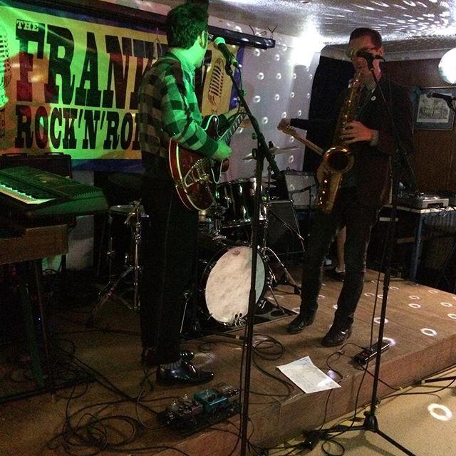 Franklin Fest soundcheck. Very happy.