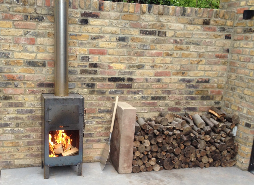 First use of our Outdooroven - Corten Steel in raw state