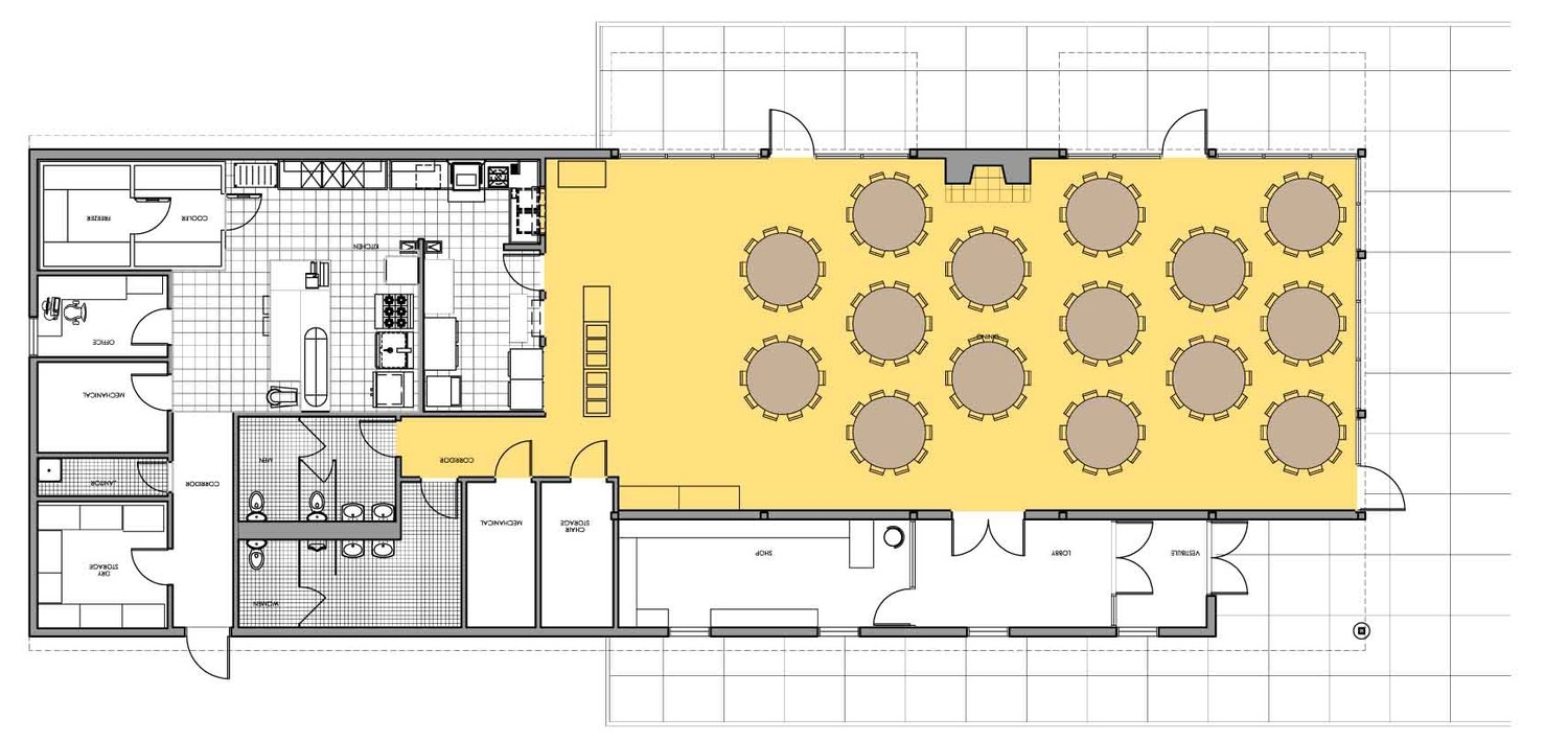 Dining Hall Floor PLan