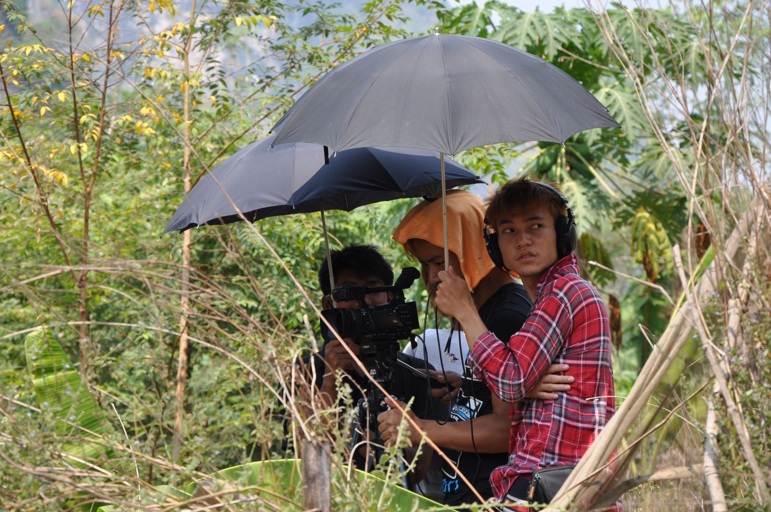 TC - crew filming under umbrella 2013.jpg