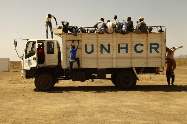 UNHCR truck