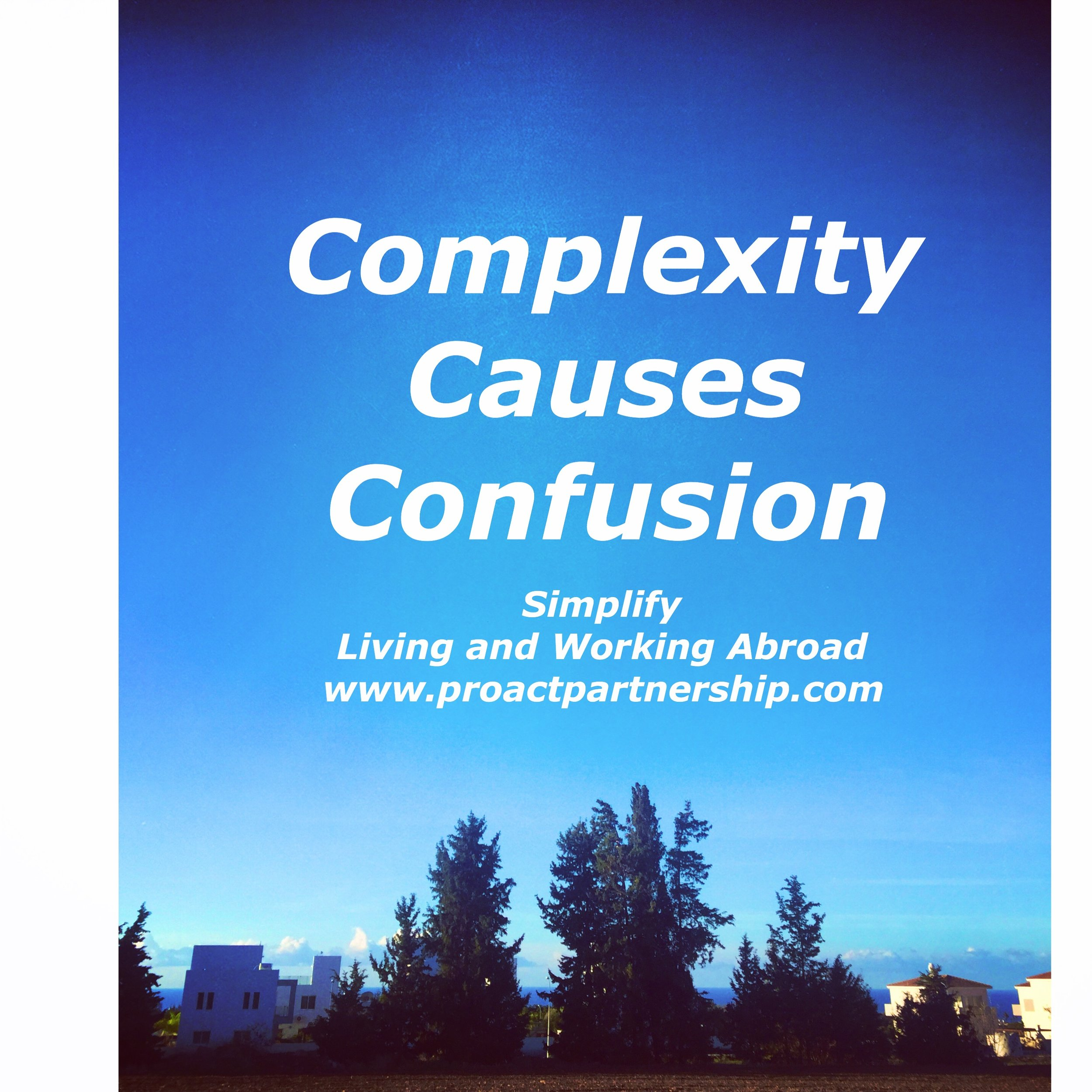 Complexity Causes Confusion.