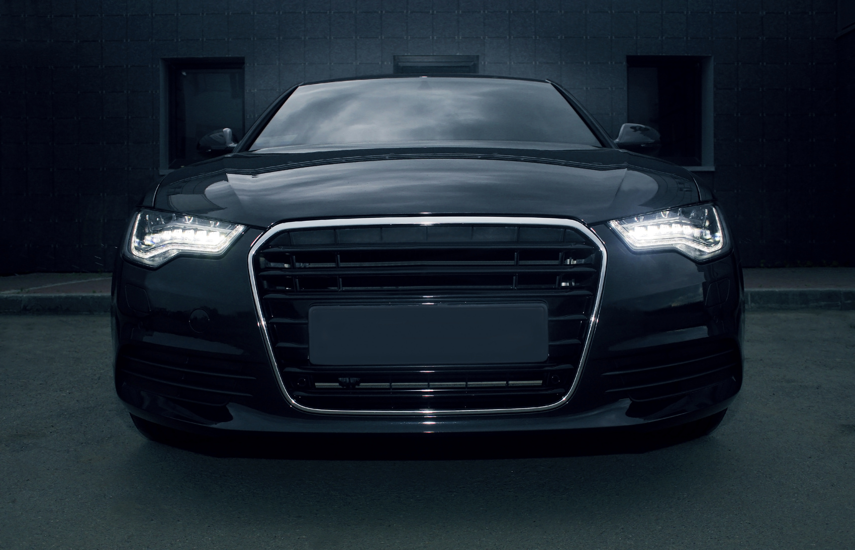 black powerful sports car