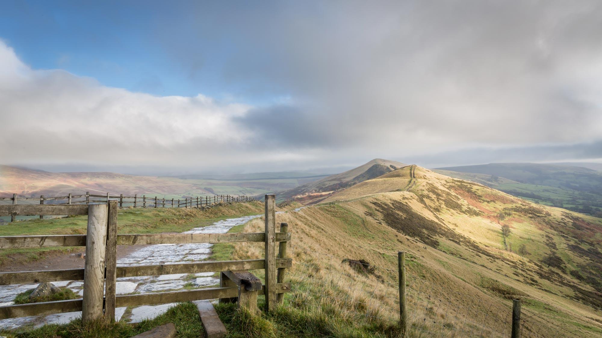 Views From Mam Tor Derbyshire