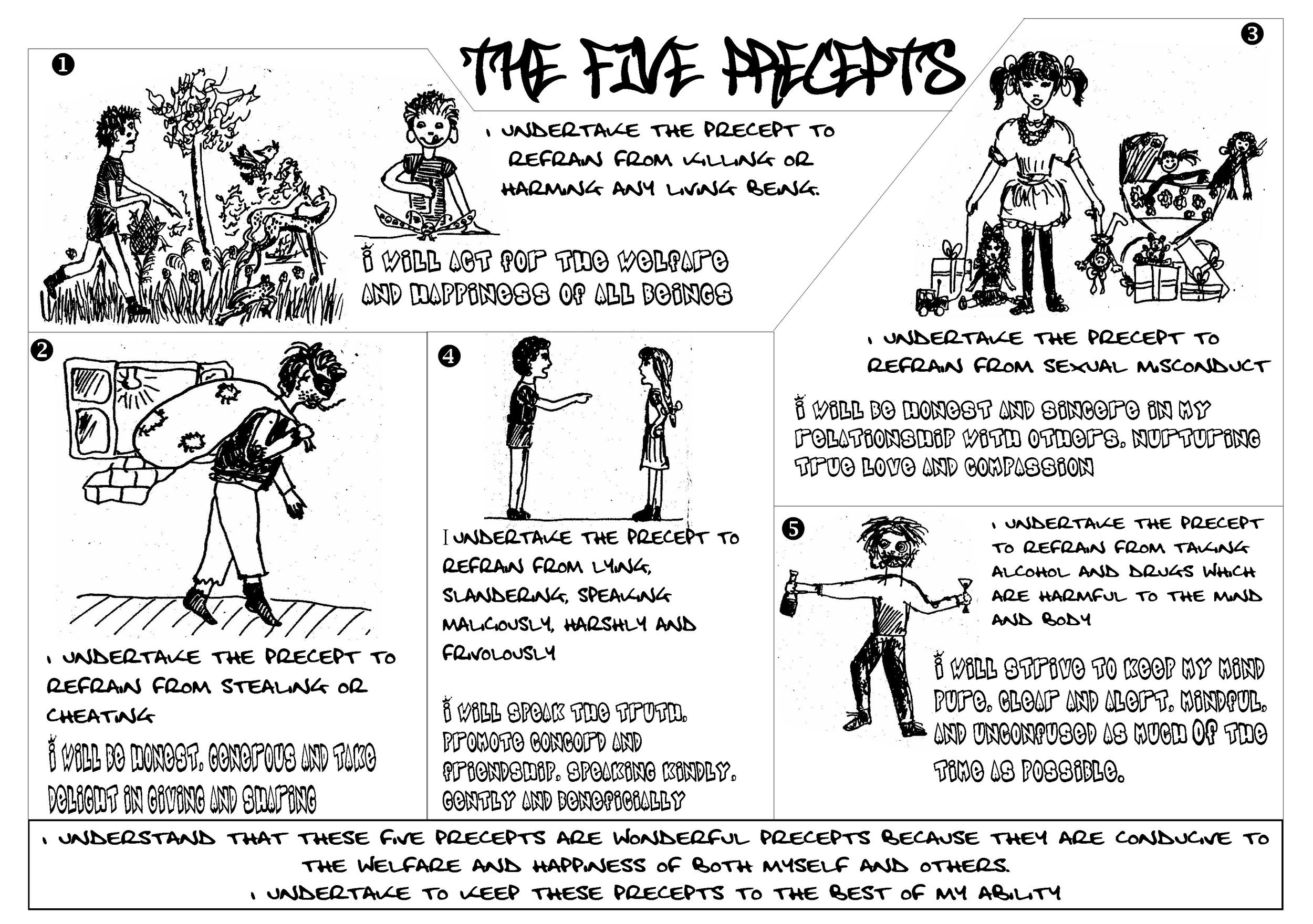 five precepts flyer