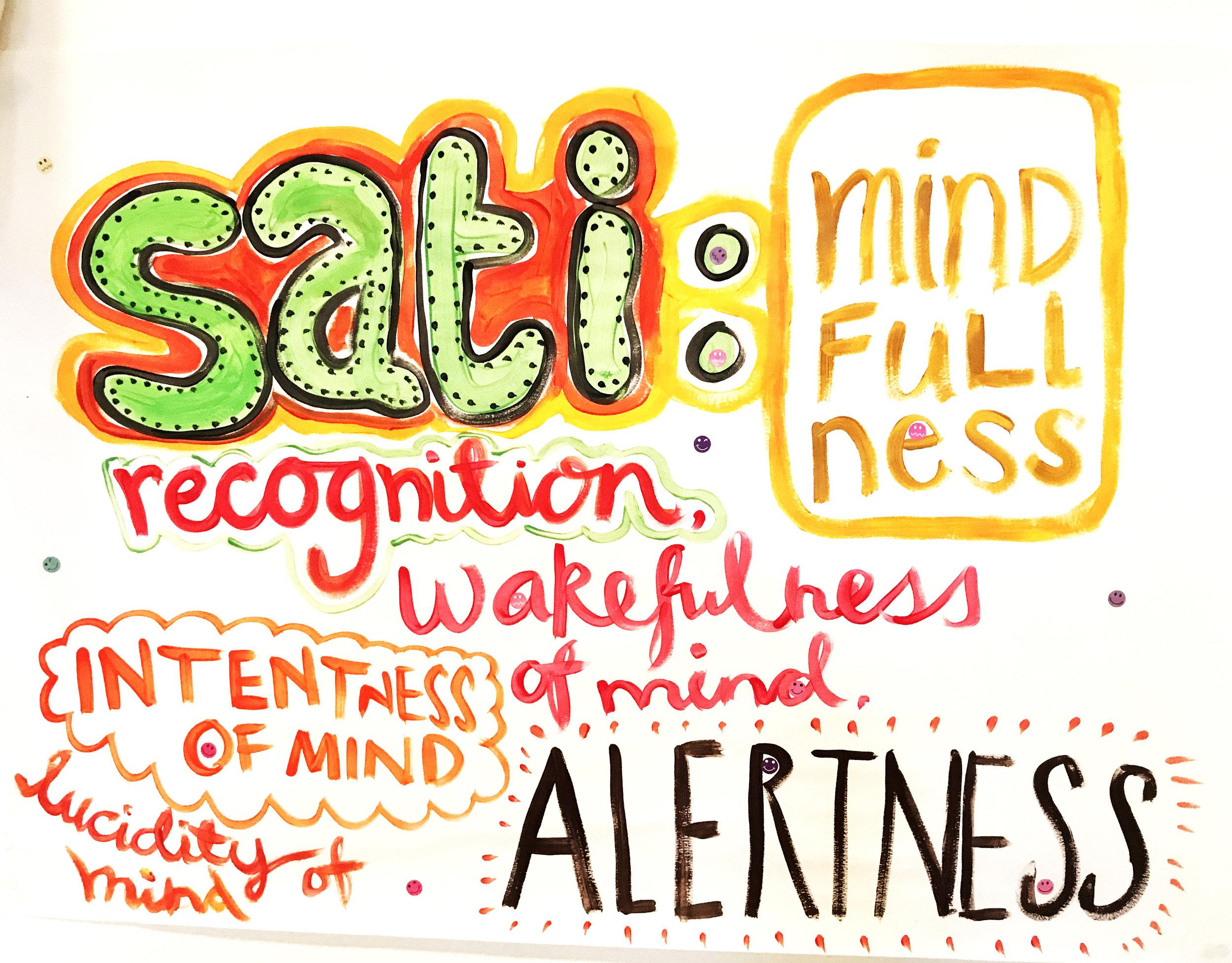 2017 Sati theme - poster in the Shrine Room