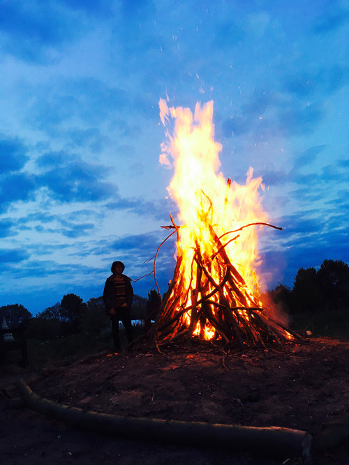 Bonfire during Family Camp 2017