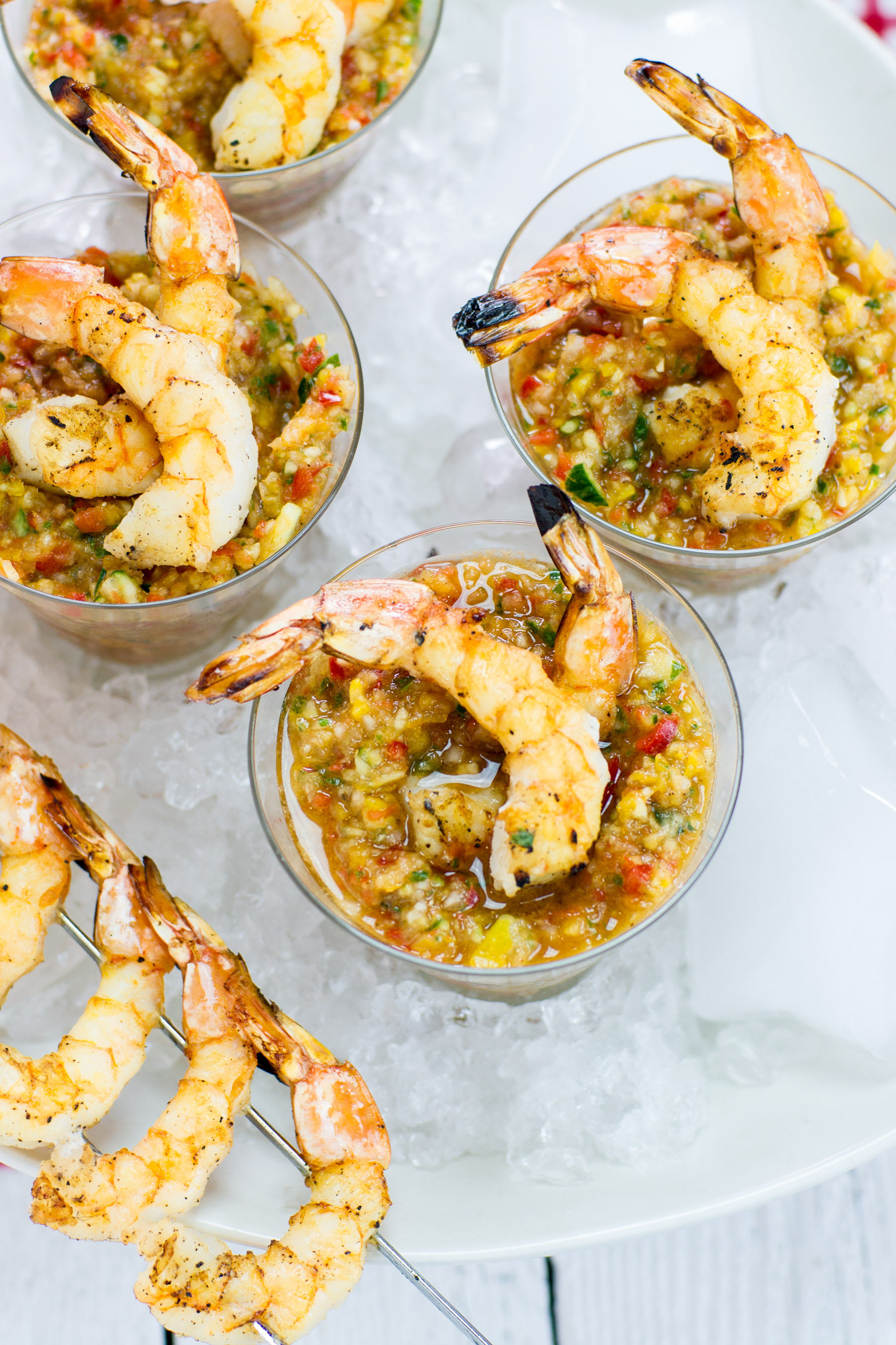 Grilled Shrimp Gazpacho , Sunset Produce 2014