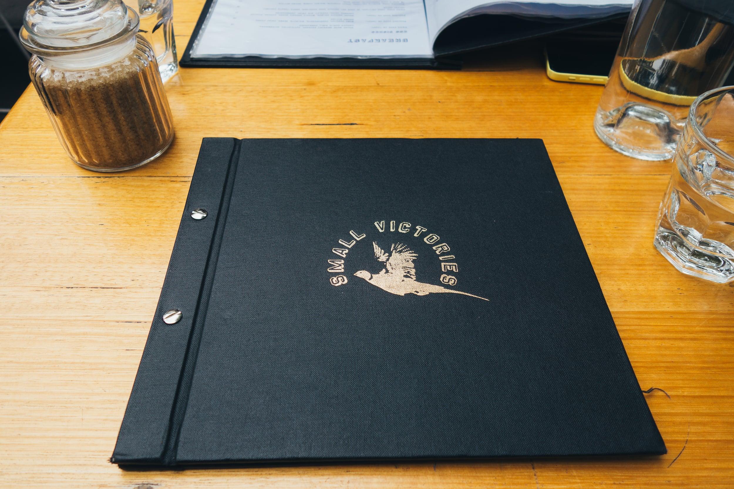 small victories voyage collective menu