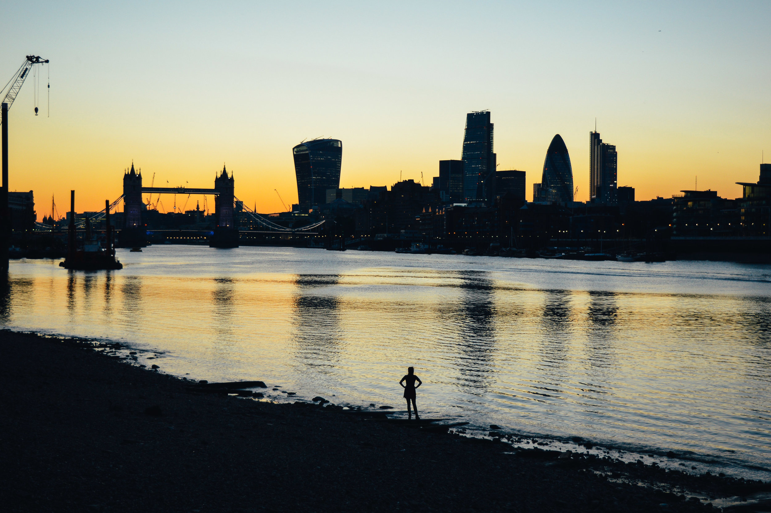 London skyline sunset Voyage Collective Fi McCrindle