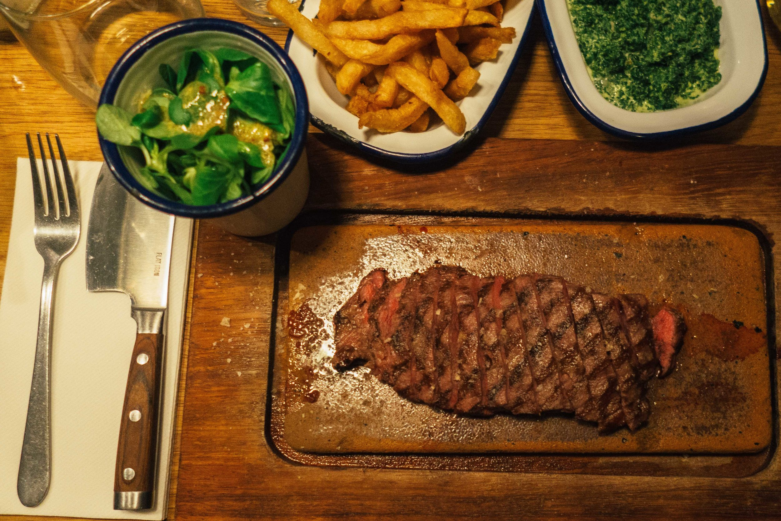 Flat Iron Steak London Soho Voyage Collective Billie Norman