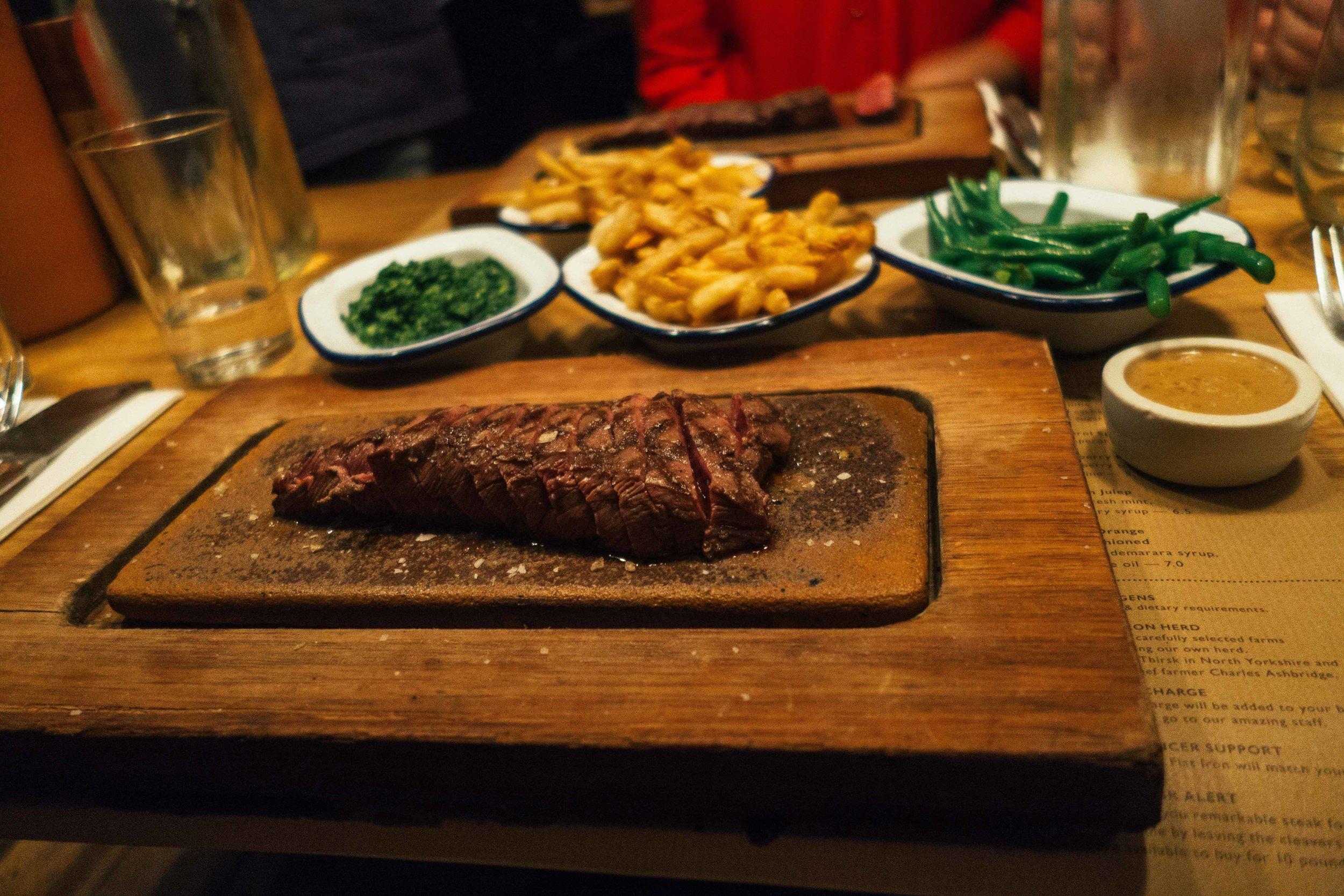 Flat Iron Steak London Voyage Collective Billie Norman