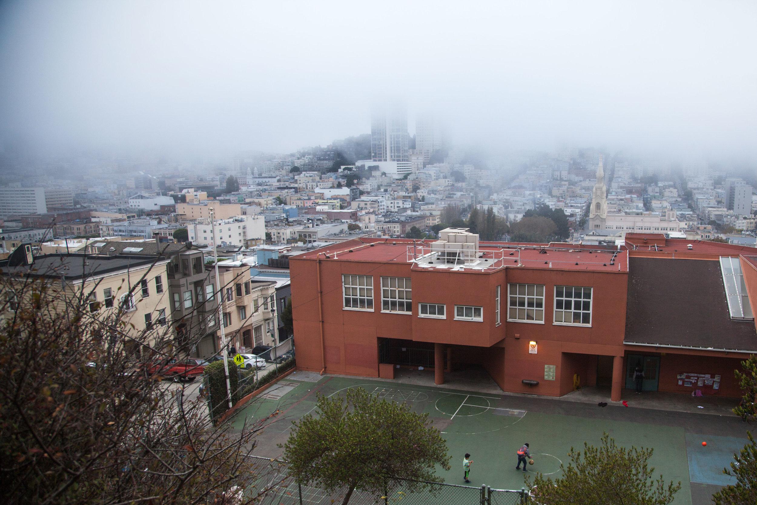 Kids playing basketball San Francisco Voyage Collective Rory Armstrong
