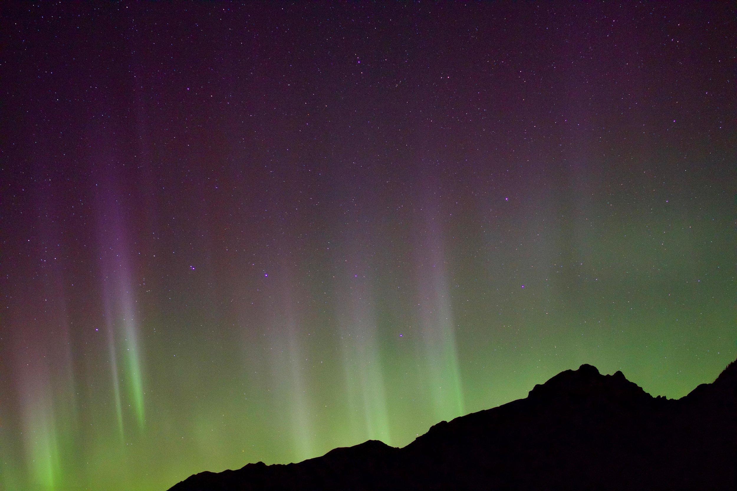 Northern Lights Aurora Borealis Lake Minnewanka Banff Alberta Voyage Collective Randal Smith