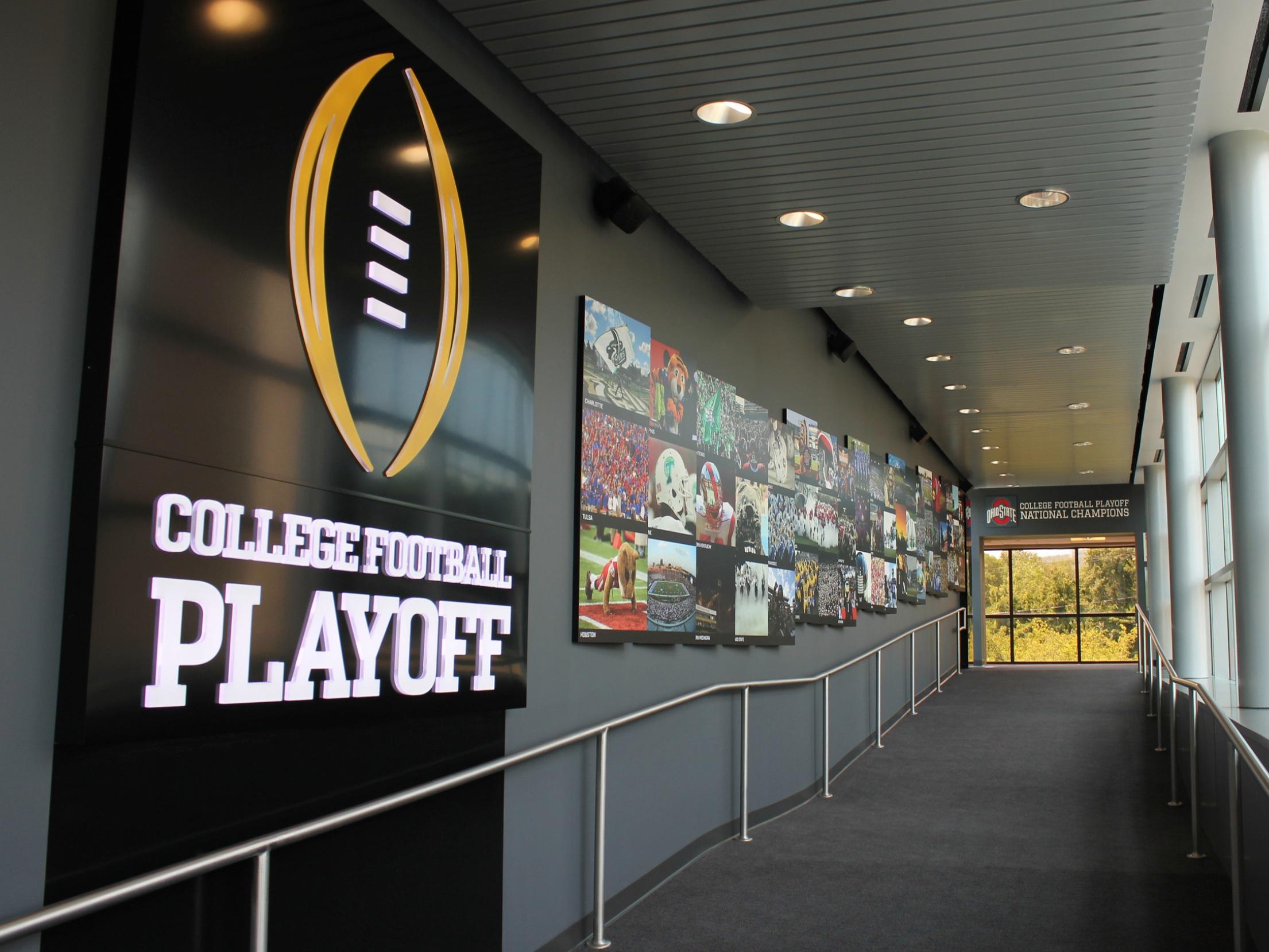 ESPN COLLEGE playoff CORRIDOR -