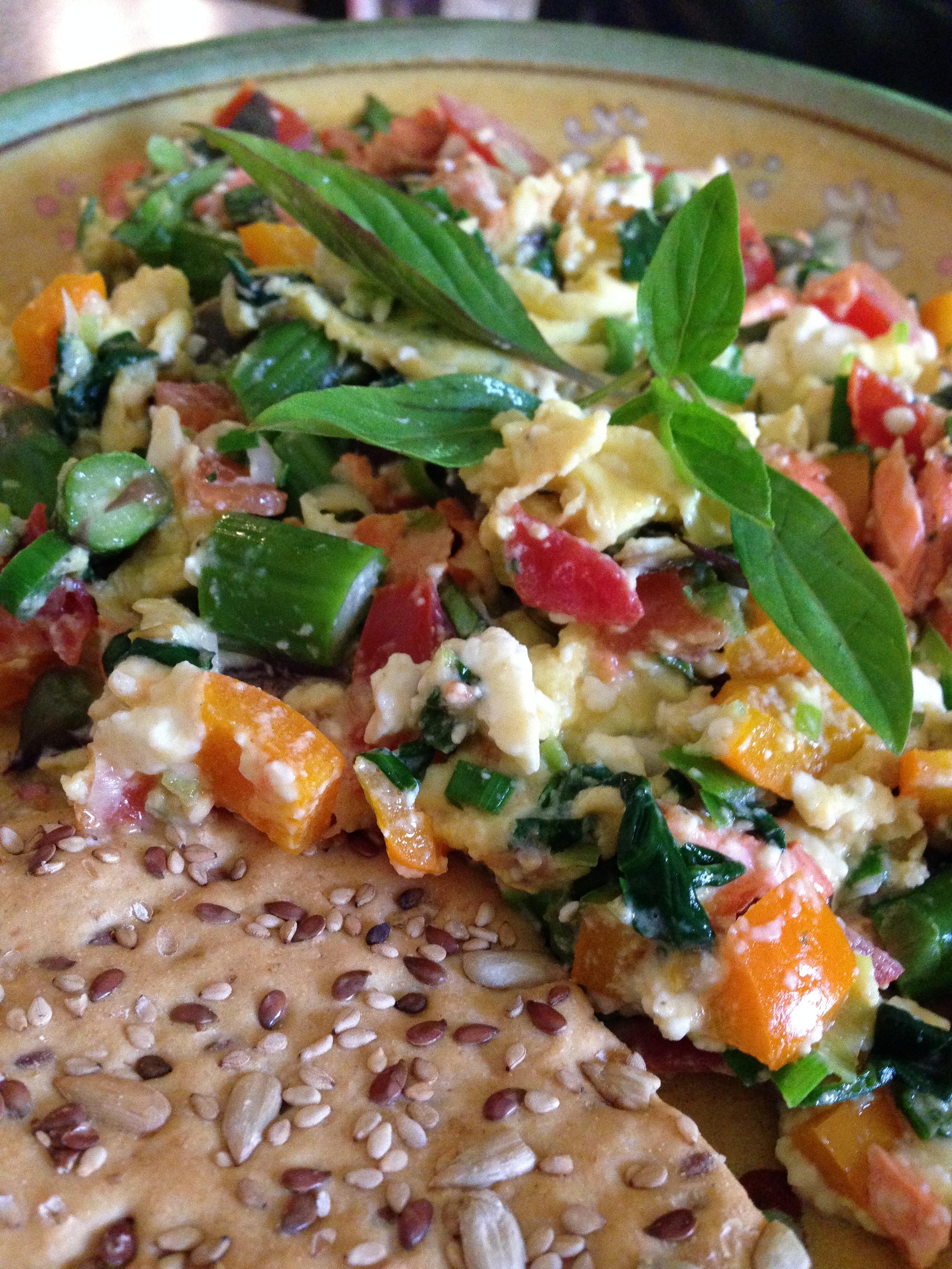 Scrambled Egg Veggie Delight