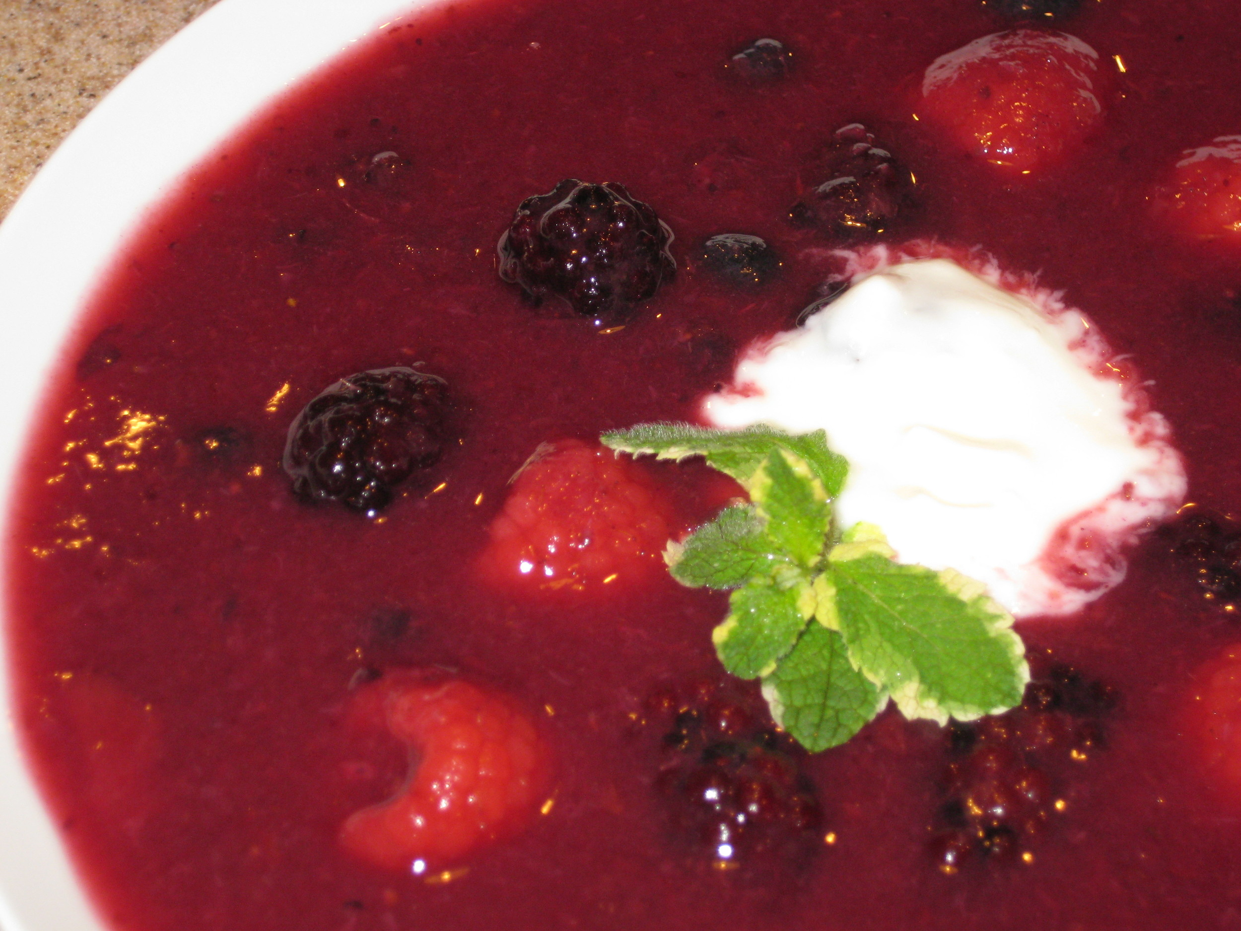 Delectable Fruit Soup