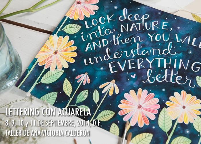 Lettering con Acuarela