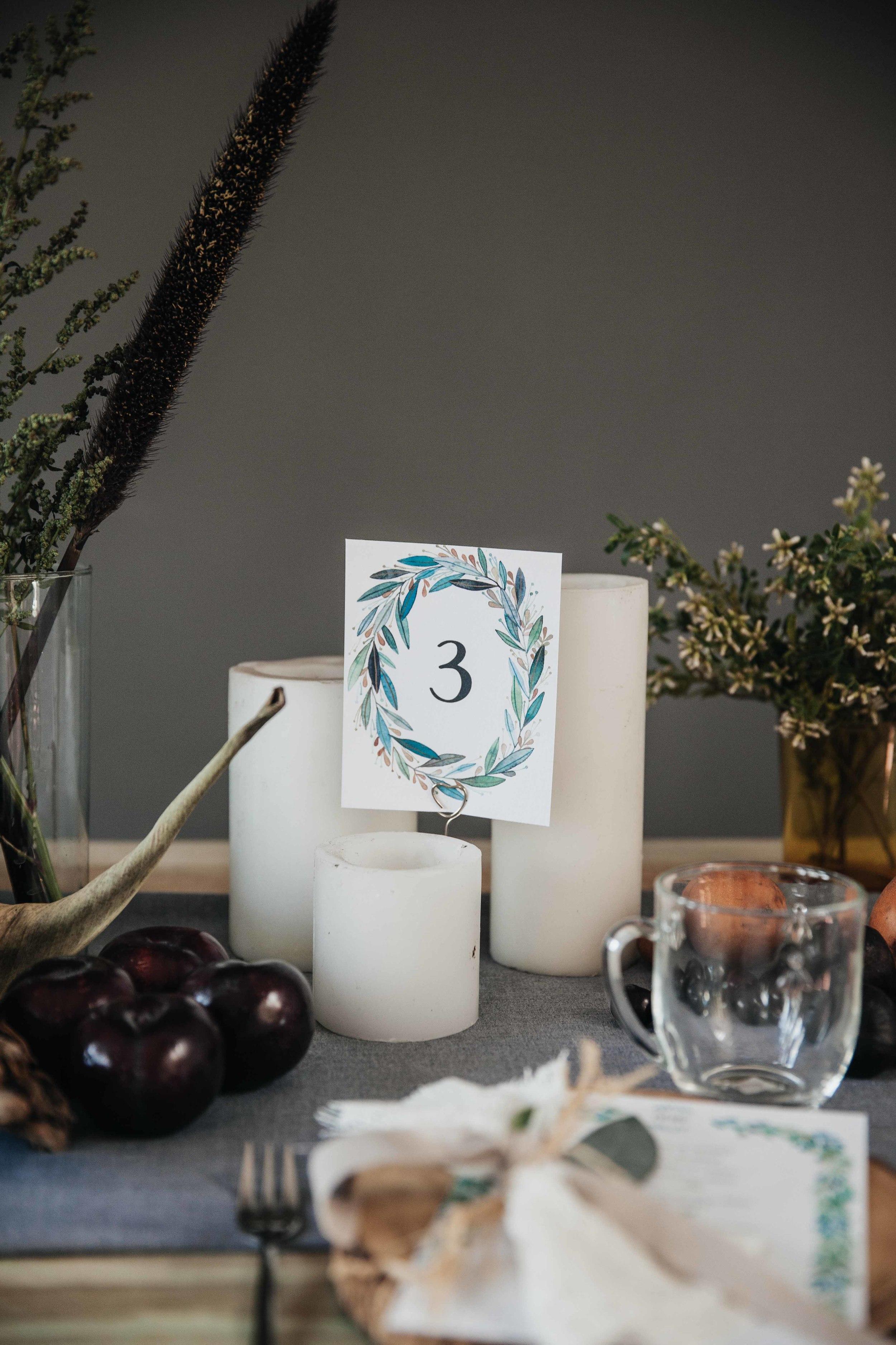 Secret Garden table number, info at events@anavictoriacalderon.com