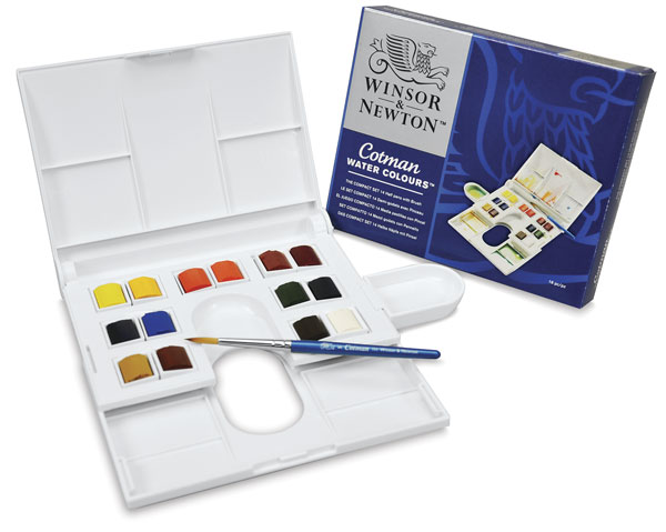 If you're looking for something a bit more affordable,  Winsor & Newton hast a student line (Cotman)  that I highly recommend. They also have a large variety of shapes, sizes and styles.