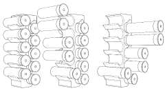 SNAP4-PULL6: A favoriteamongdoublebarrel shooters, especiallyin sporting clays. Snap four out, two at a time beforeturning your attention to theback row. Slide two at a time,and then slide the bottom twoas a pair to finish.