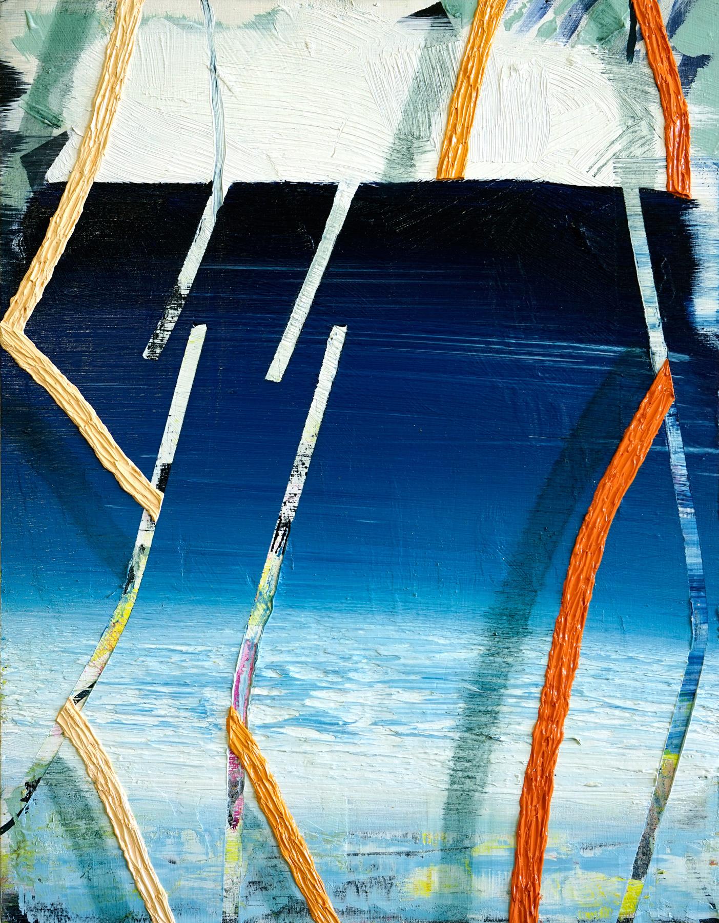 "Ocean     2016              14""x11""                Oil on Panel."