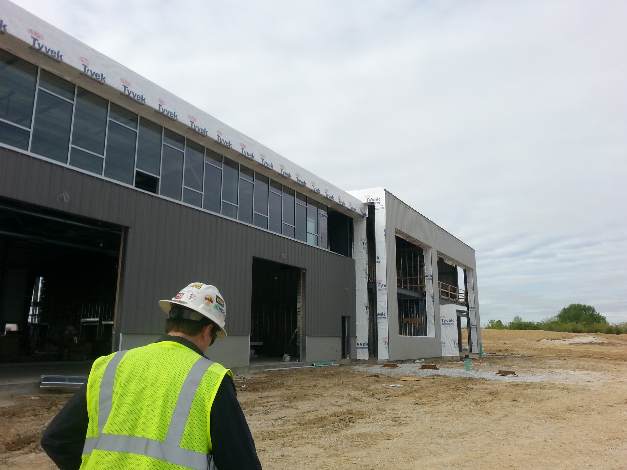 Ranken Technical College - DTEC in Wentzville, MO - An 8 foot tall clerestory runs the length of the shop space on the North facade -