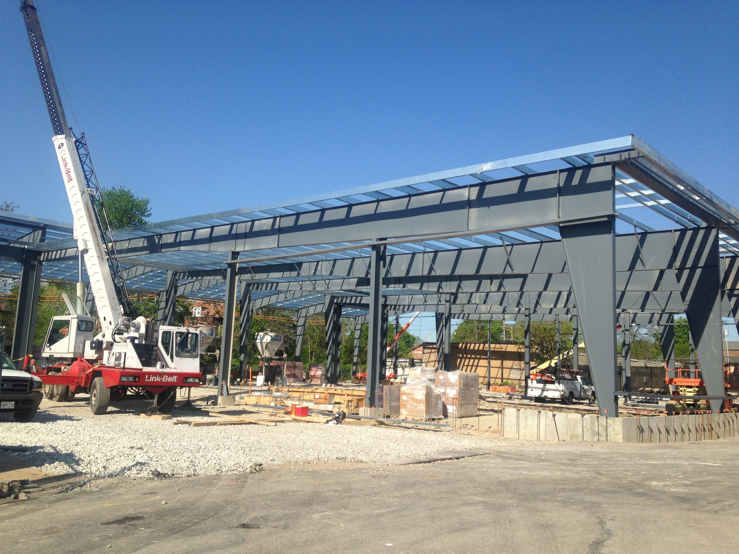 Ranken Technical College - St. Louis campus - A 4 foot tall glass clerestory runs the length of the building -