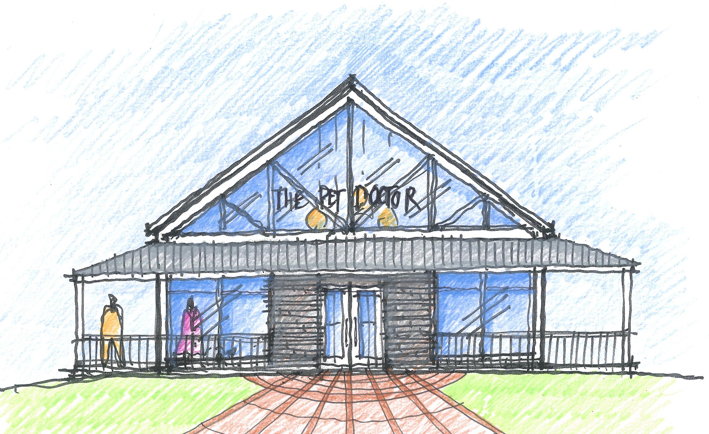 The transparent farm house -