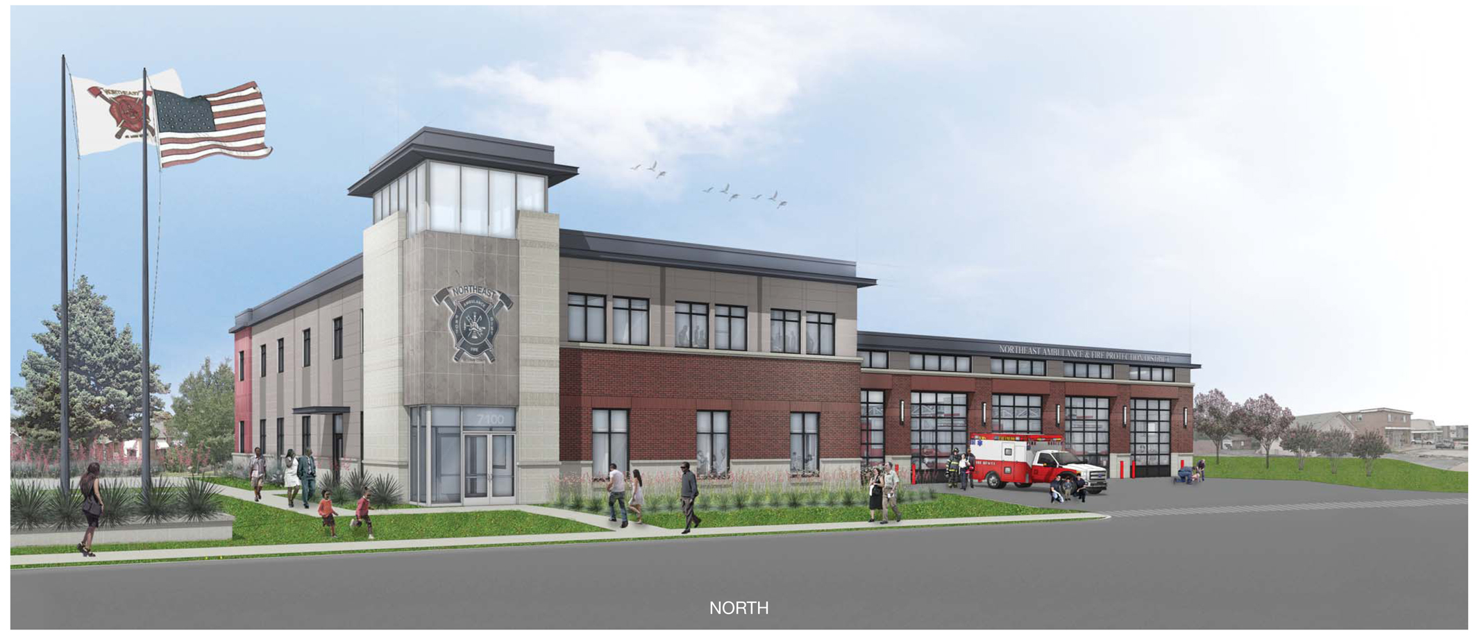 Northeast Ambulance & Fire Protection District's new Fire Headquarters -