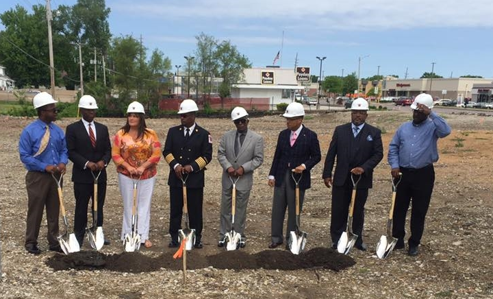 Breaking ground for Northeast's new Fire Headquarters. - Photo by Northeast -