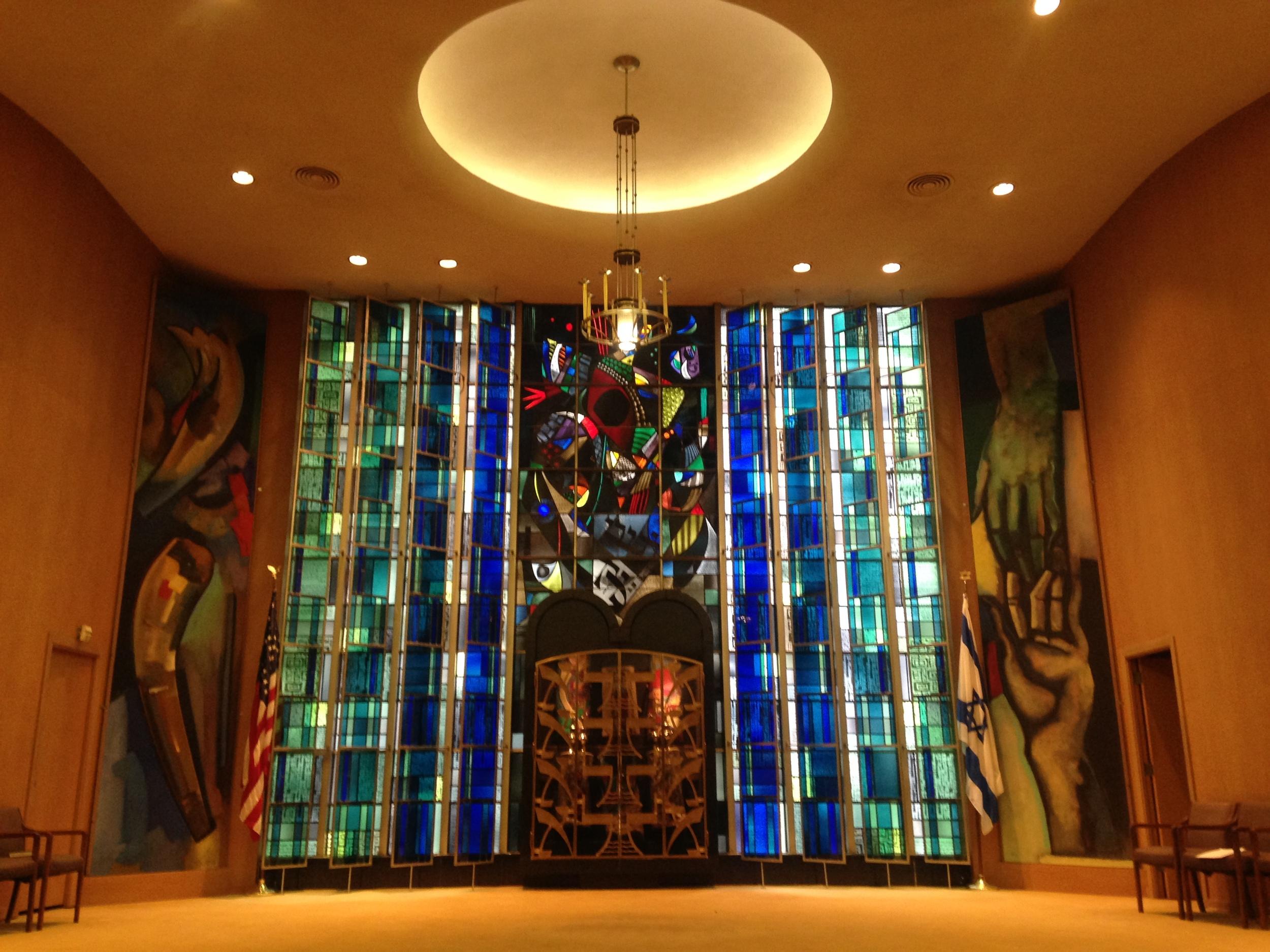The interior of Kol Rinah Synagogue -