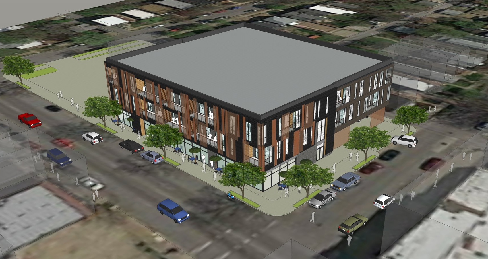 3D view at the corner of Morganford and Connecticut -