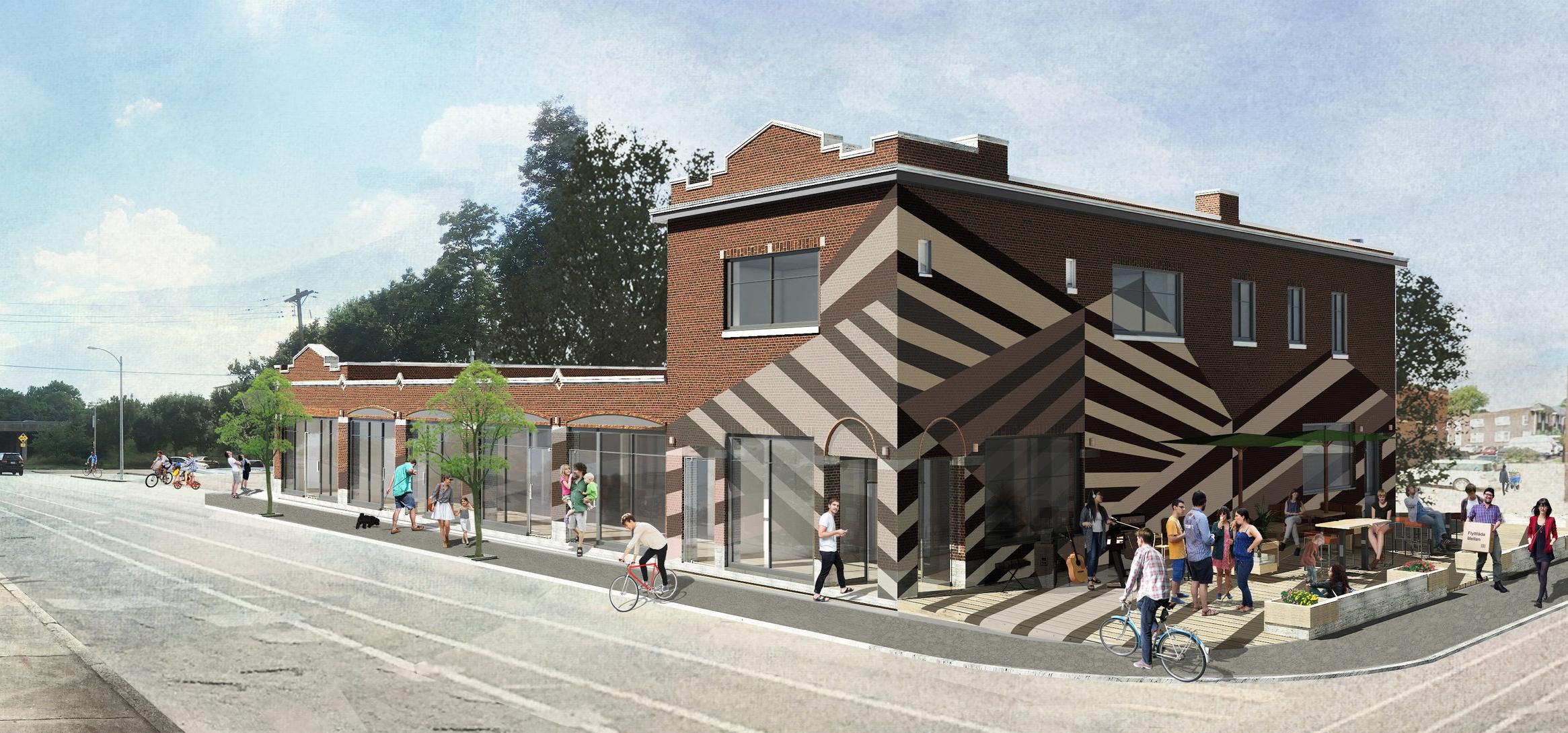 Hoffman Building bedazzled -