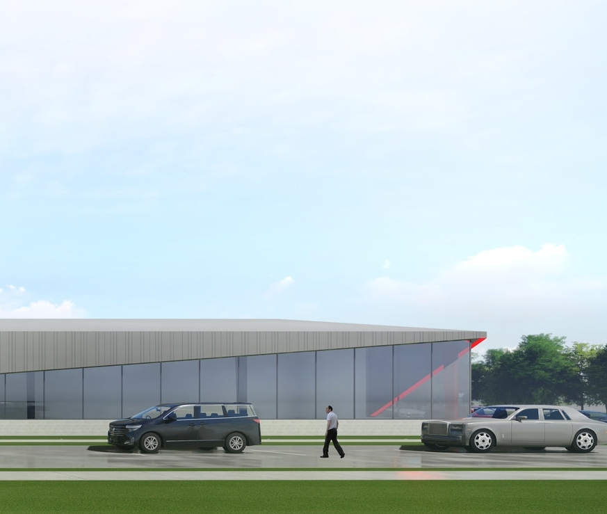 Glass lifts up as the building meets the corner establishing Ranken's new campus edge -