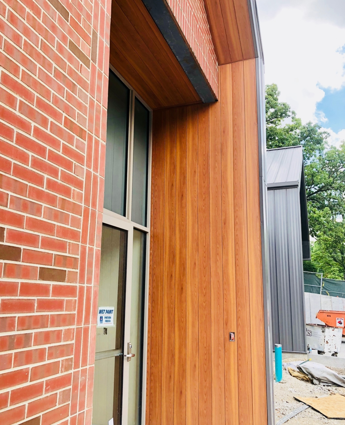 The Fire Station's entry area under construction -