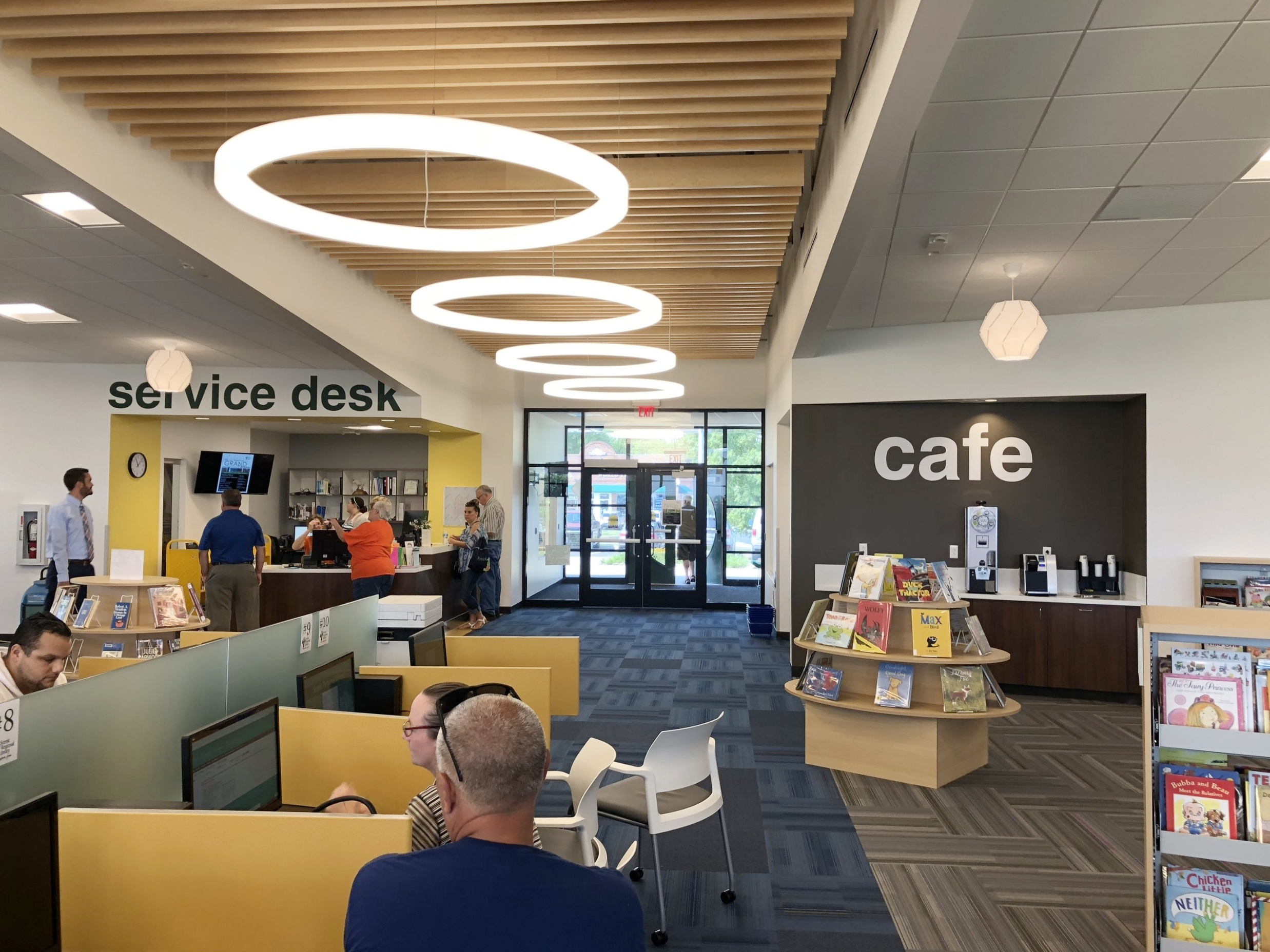 Sullivan, MO new library has a small cafe! -