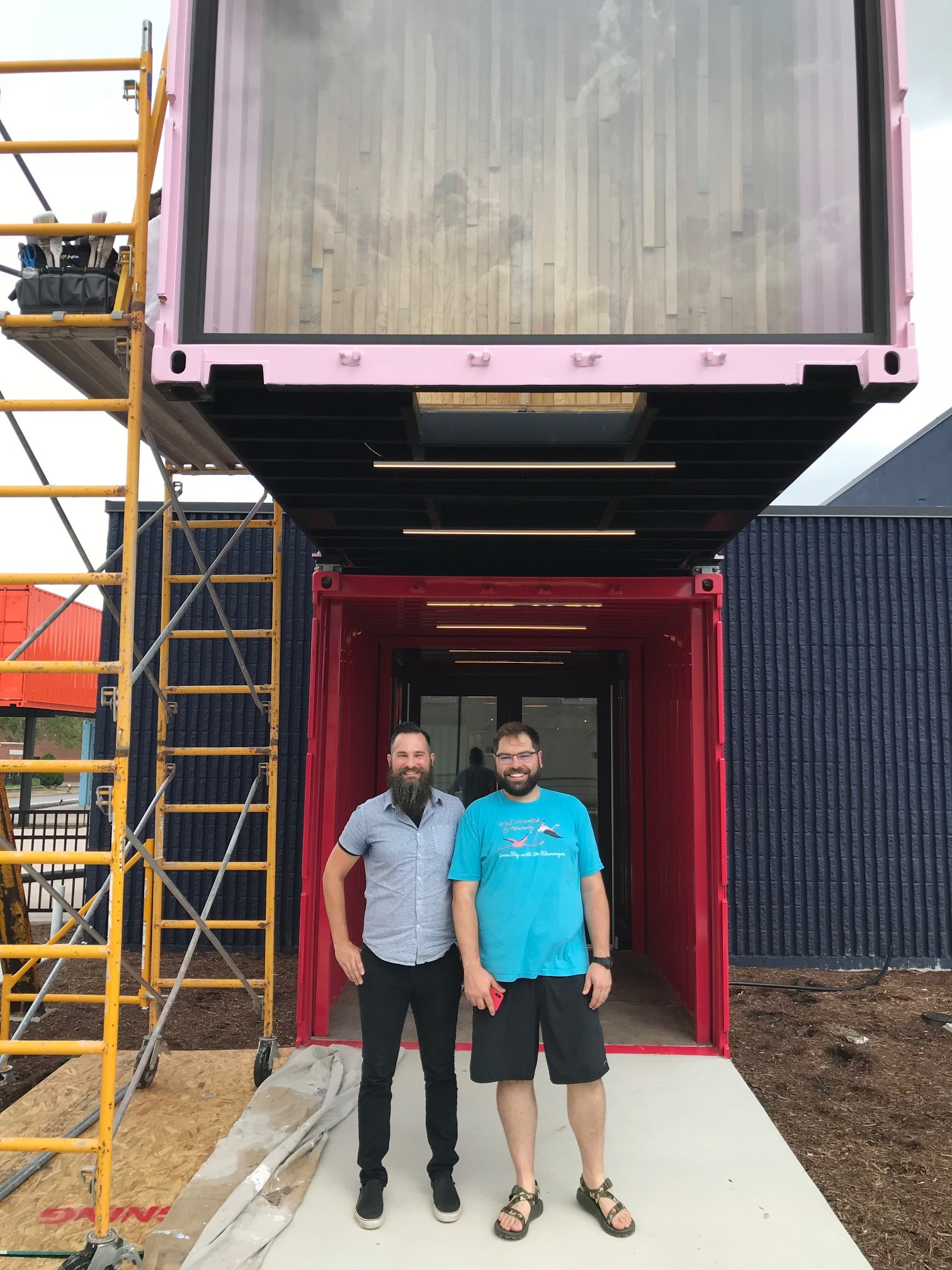 Thad Martin of JEMA and Andy Hille of Rockwell Beer Company -