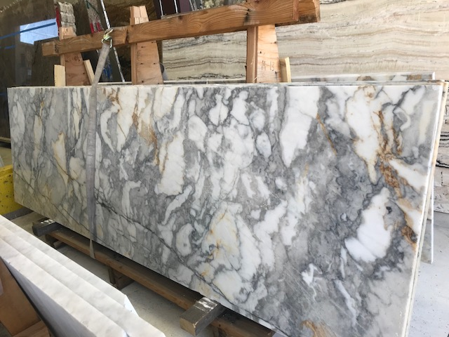 Marble slabs will be part of the exterior and interior palette -