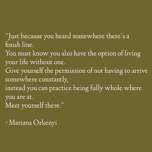 About giving ourselves permission.