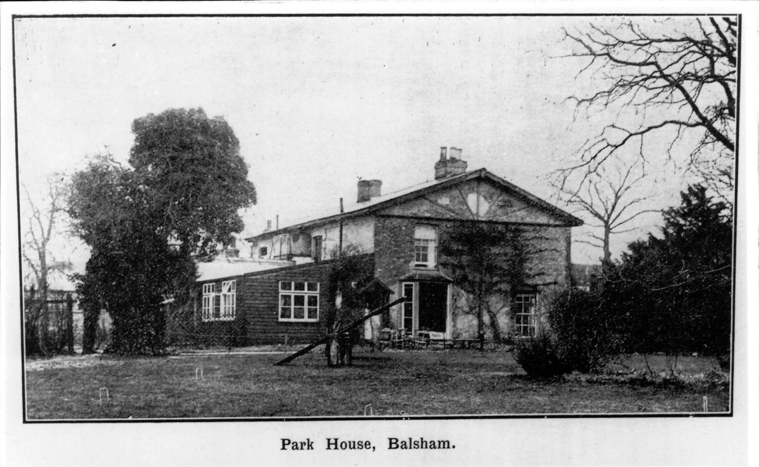A postcard of Park House