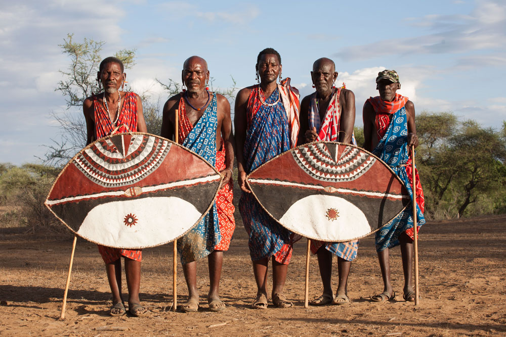 BLOOD & LEATHER: SAVING THE ART OF THE MAASAI WAR SHIELD  [Oct. 2012]  Five Maasai shield warriors now in their 70s and 80s make war shields for the first time in over 50 years.  Join us in southern Kenya's Great Rift Valley . . .