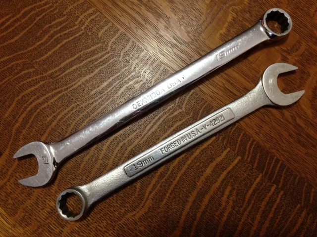 A fully polished wrench (above) is easier to keep clean than one with a blasted finish.
